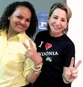 Cristina Dias e Jaqueline Cassol