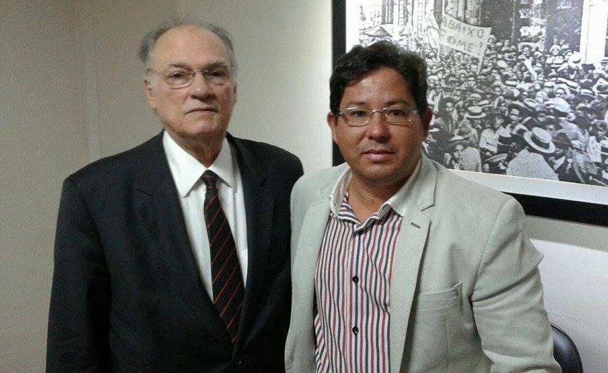 Roberto Freire e Syrne Lima durante encontro Nacional do PPS