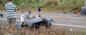 carreta tomba e motorista morre na BR-3642