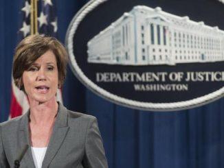 Sally Yates declarou que o Departamento de Justiça não defenderia a decisão de proibir a entrada nos Estados Unidos de refugiados e de pessoas procedentes de sete países muçulmanos