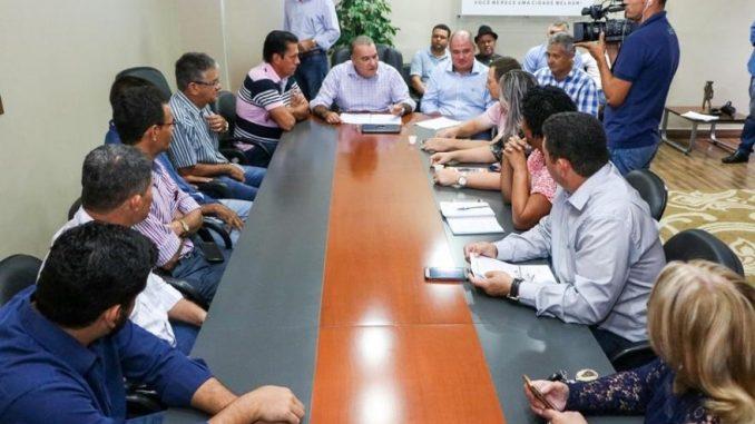 Coletiva de imprensa marca lançamento da obra de ampliação do hospital munipal de Ji-Paraná