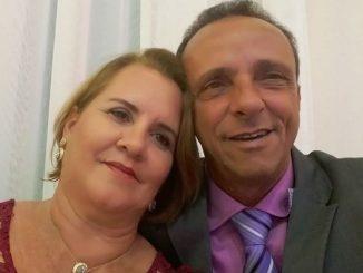 Roseli Dobri com o marido Lazinho da Fetagro