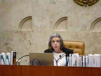 A presidente do STF, Cármen Lúcia, durante a sessão desta quarta (21) (Foto: Rosinei Coutinho/SCO/STF)
