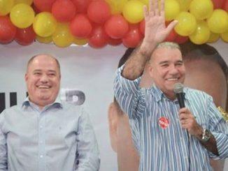 Na foto Marcito Pinto e Jesualdo Pires durante a última campanha de prefeito em JI-Paraná.