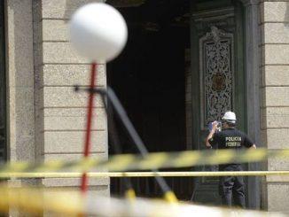 Polícia Federal faz mapeamento de áreas destruídas no Museu Nacional Polícia Federal usa scanner para mapeamento de áreas destrídas do Museu Nacional, no Rio. -Tomaz Silva/Agência Brasil