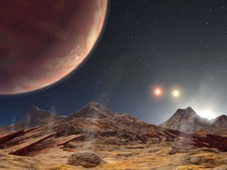 Visão artística do que seria um sistema solar triplo / Reprodução