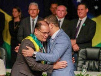 Cerimônia de passagem de faixa de governador de Daniel Pereira para Marcos Rocha