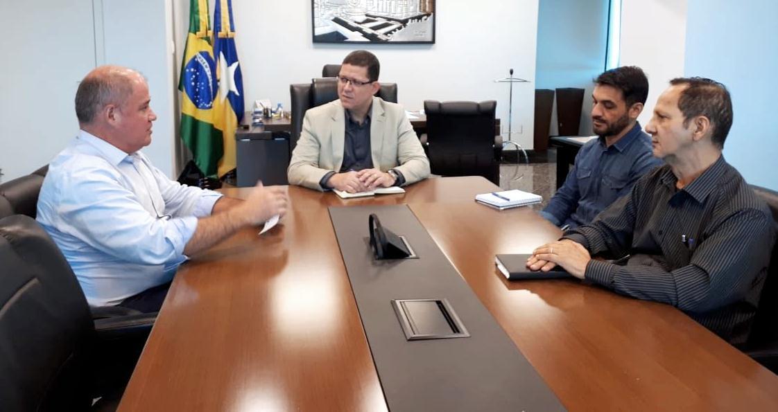 Governador Marcos Rocha e o prefeito Marcito Pinto