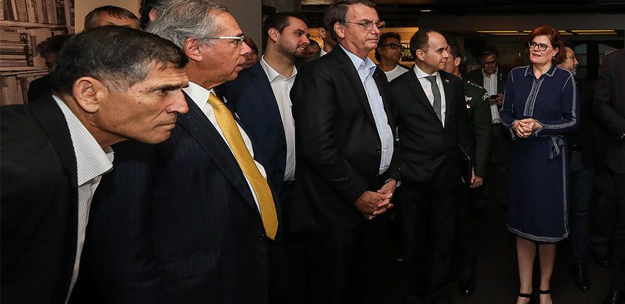 Santos Cruz na comitiva de Bolsonaro durante viagem a Dallas (Foto: Marcos Côrrea/PR)