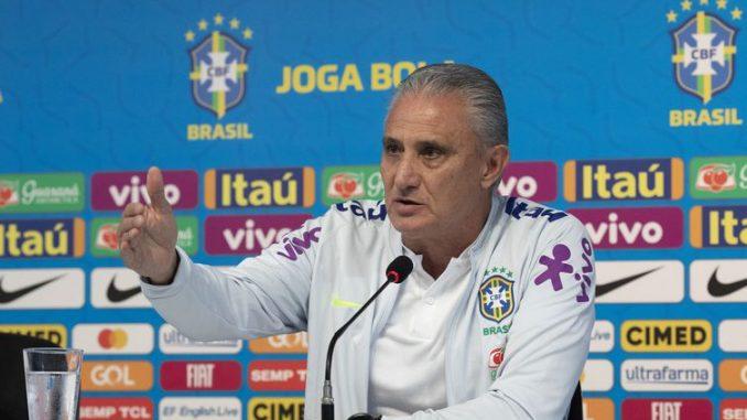 Técnico Tite mantem segredo sobre a escalação da seleção para a partida contra a Argentina -Lucas Figueiredo/CBF