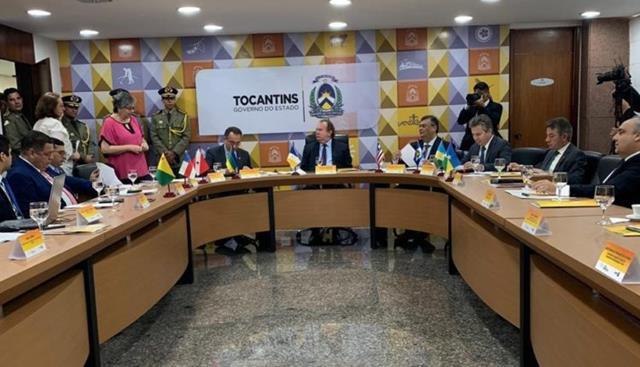 Governadores da Amazônia Legal reunidos em agosto, em Tocantins. Foto: Governo do Tocantins.