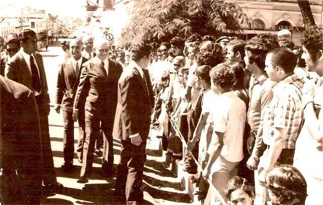 Coronel Humberto da Silva Guedes e o presidente Ernesto Geisel em Porto Velho