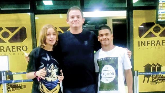 O técnico Arouca, que acompanha da dupla de judocas Dailainy e Dantty