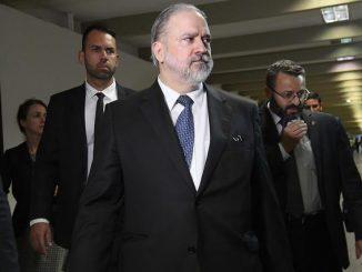 Indicado para assumir o cargo de procurador-geral da República, Augusto Brandão Aras, visita o Senado Federal. rrFoto: Roque de Sá/Agência Senado