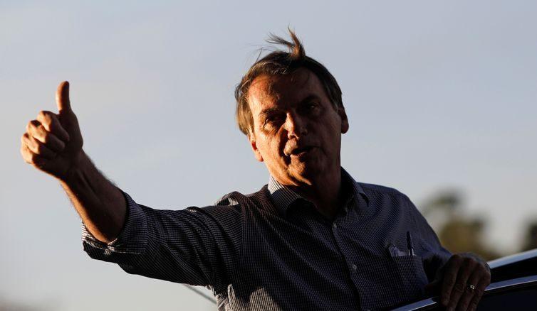 Presidente Jair Bolsonaro chegaao Palácio do Alvorada -Reuters/Adriano Machado/Direitos Reservados