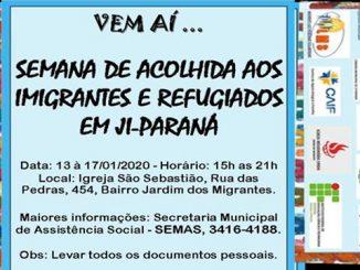 Ji-Paraná tem semana de acolhimento ao estrangeiro