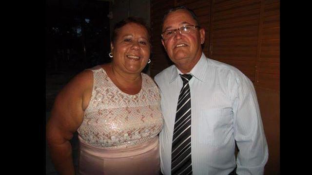 Zélia e o marido José Pissinatti. Ele está em estado grave com a Covid-19