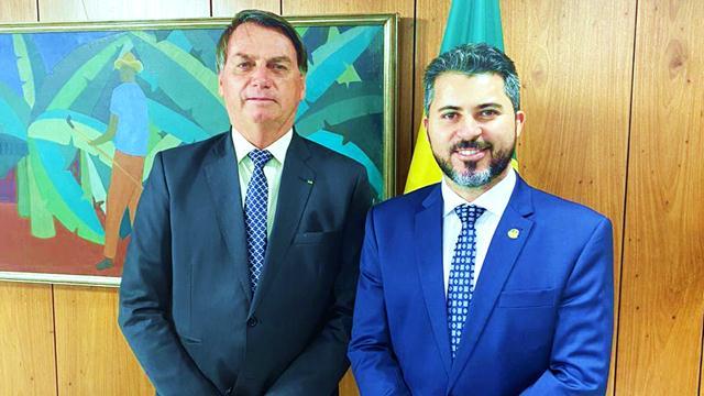 Bolsonaro e Marcos Rogério