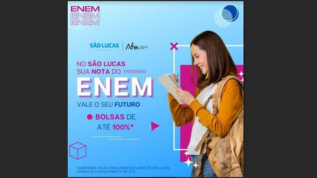 Candidatos do Enem podem conseguir bolsas de até 100%