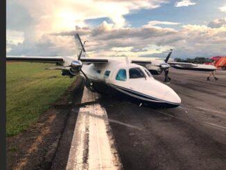 Avião com ex-deputado pousa de barriga no aeroporto de Ji-Paraná