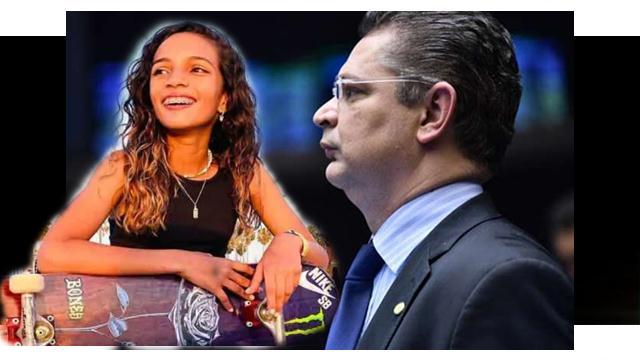 Deputado Sóstenes usa vitória de Rayssa Leal para defender trabalho infantil.